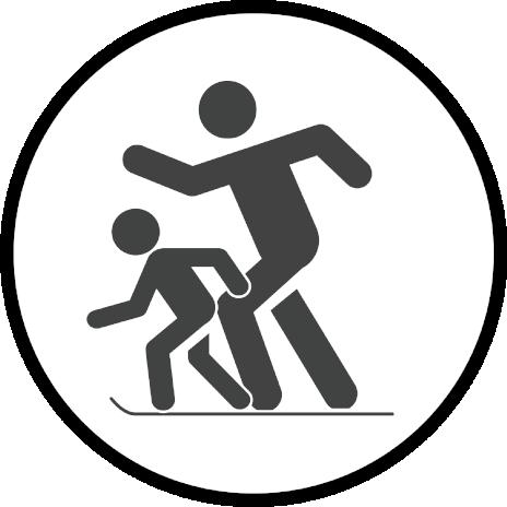 Paar-Ski-Lauf