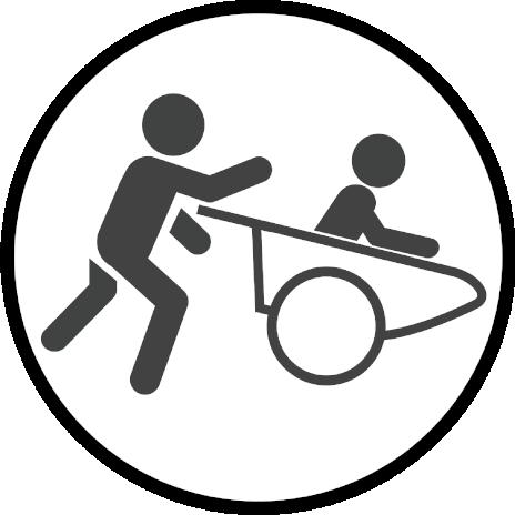 Partner-Parcours mit Schubkarre